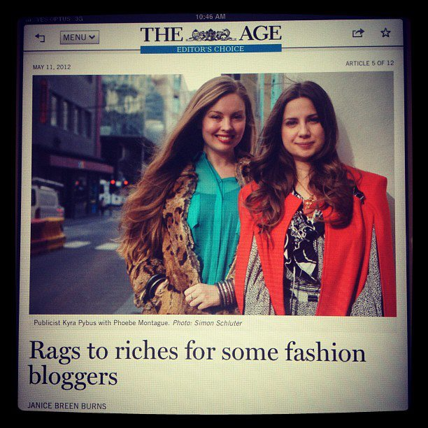 Kyra & I interviewed in The Age the day before Fashionopolis via @pybuspr
