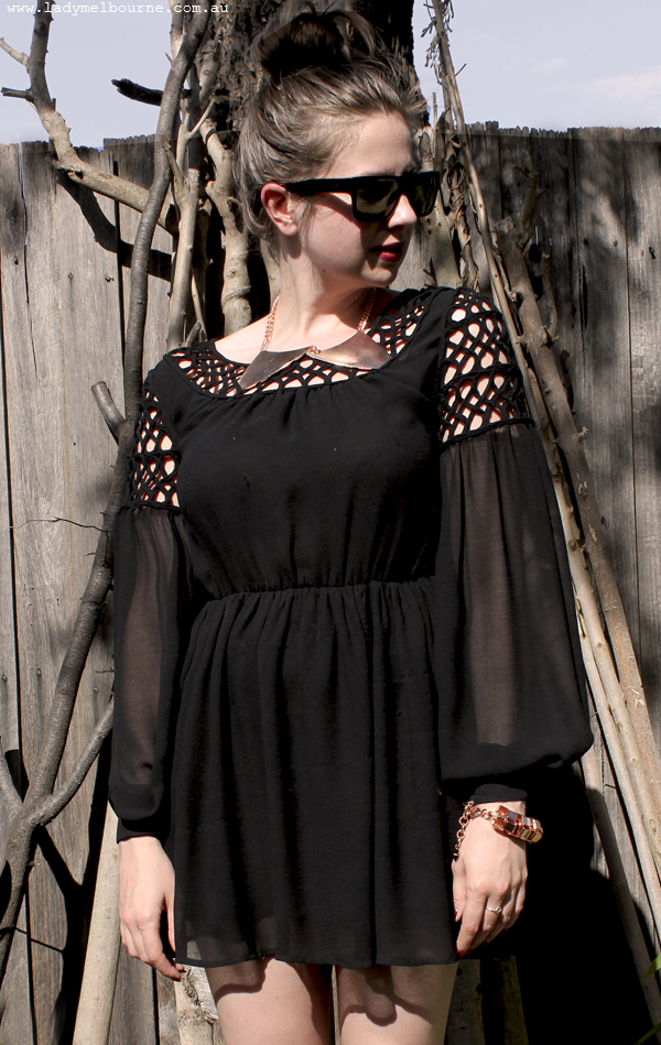 Frocktober Little Black Dress With Rose Gold Accessories