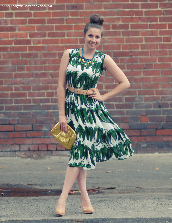 Green chilli dress