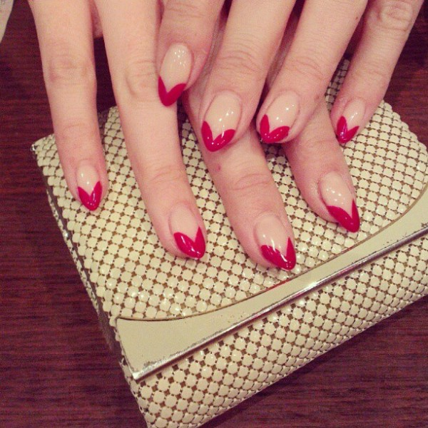 Red tip manicure from Miss Fox