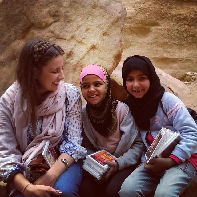Bedouin girls at Petra