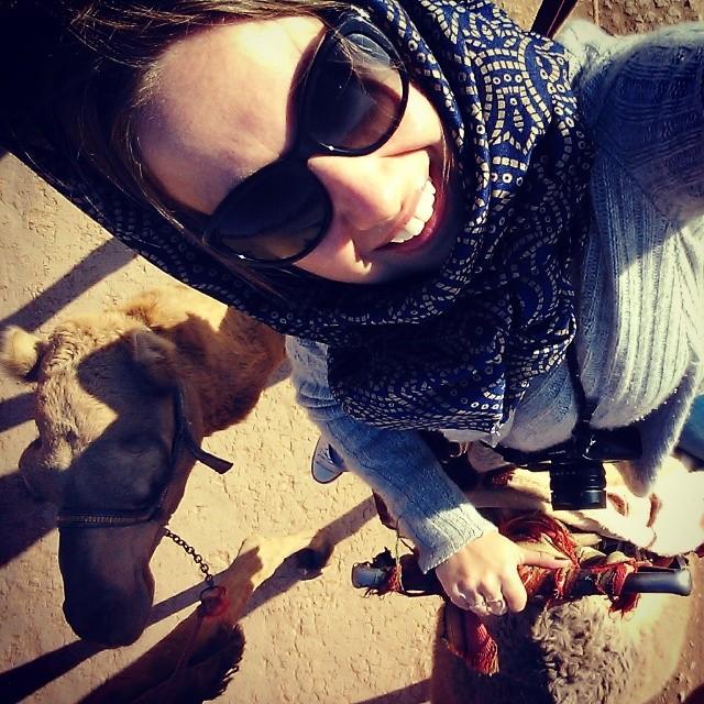 Riding camels at Wadi Rum, Jordan