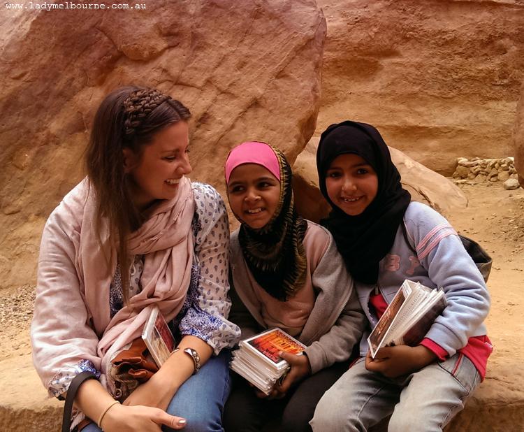 Bedouin girls in Petra, Jordan