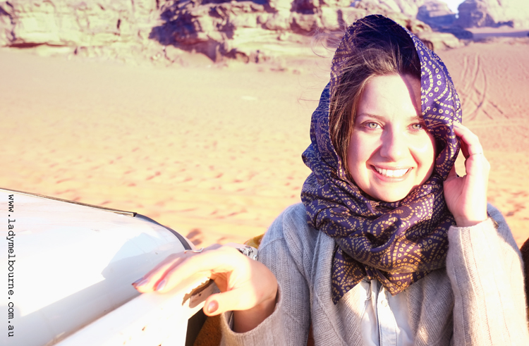 Lady Melbourne in Wadi Rum, Jordan