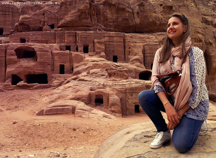 Lady Melbourne in Petra, Jordan