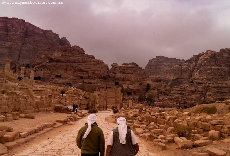 Roman ruins, Petra, Jordan