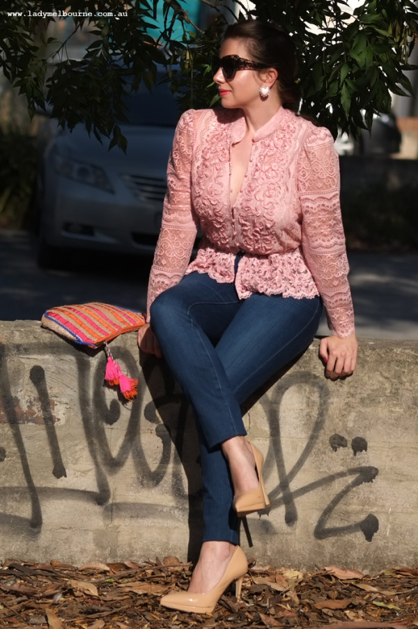 Lady Melbourne wearing Sussan lift and shape jeans