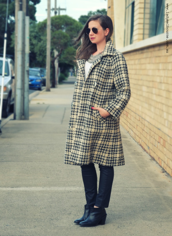 Lady Melbourne's vintage check coat