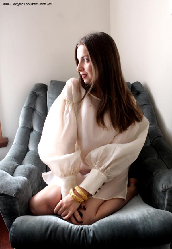 Lady Melbourne's poet sleeve blouse