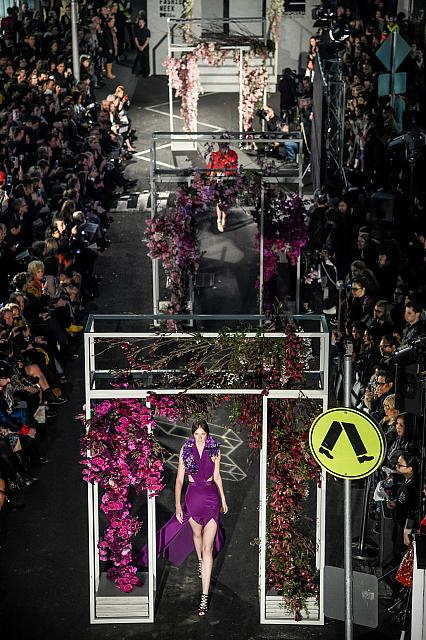 MSFW opening night parade in Melbourne, 2014