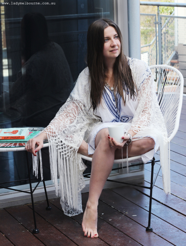 Lady Melbourne in bohemian luxe on a weekend getaway