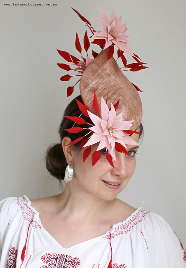 The work of Melbourne based milliner Brett Morley, featured on www.ladymelbourne.com.au