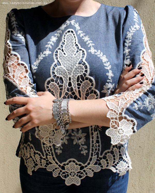 Lace cutout top from ChicWish