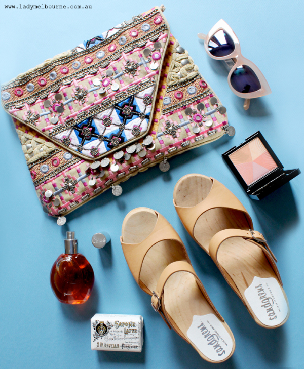 Lady Melbourne's Flatlay of new accessories