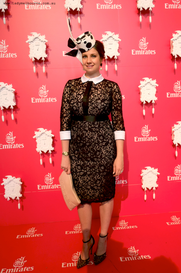 Lady Melbourne at the Emirates marquee on Derby Day, 2014