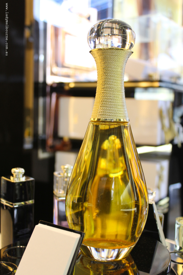Large J'adore perfume bottle