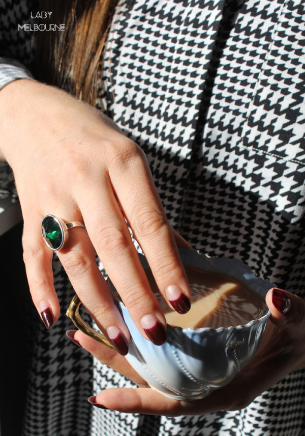 Green cubic zirconia ring by Benjamin Clark