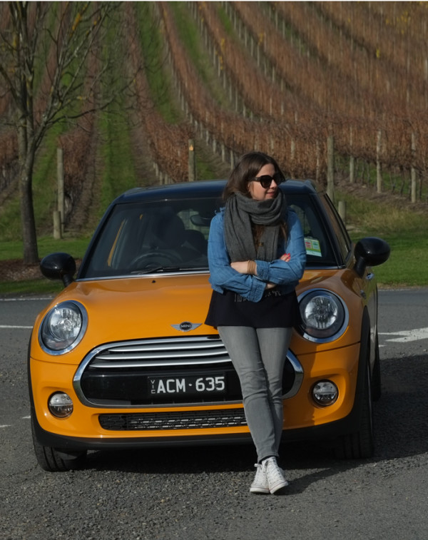 Lady Melbourne with the brand new Mini S 5 Door Hatch