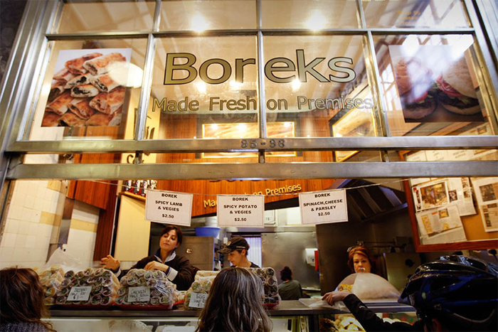 Famous Turkish 'Borek' at the Queen Victoria Market