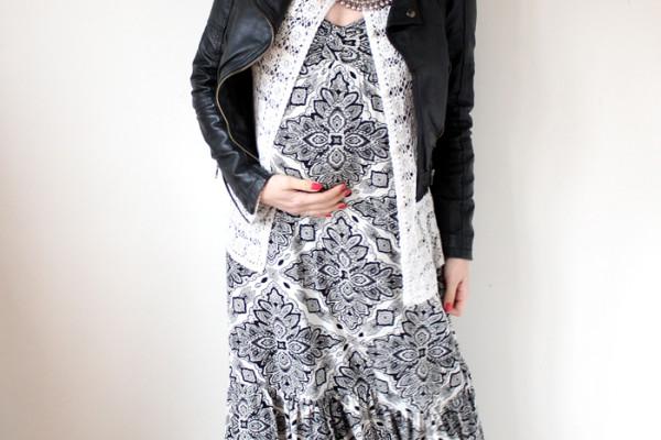 Lady Melbourne wearing a black leather motor cycle jacket | www.ladymelbourne.com.au