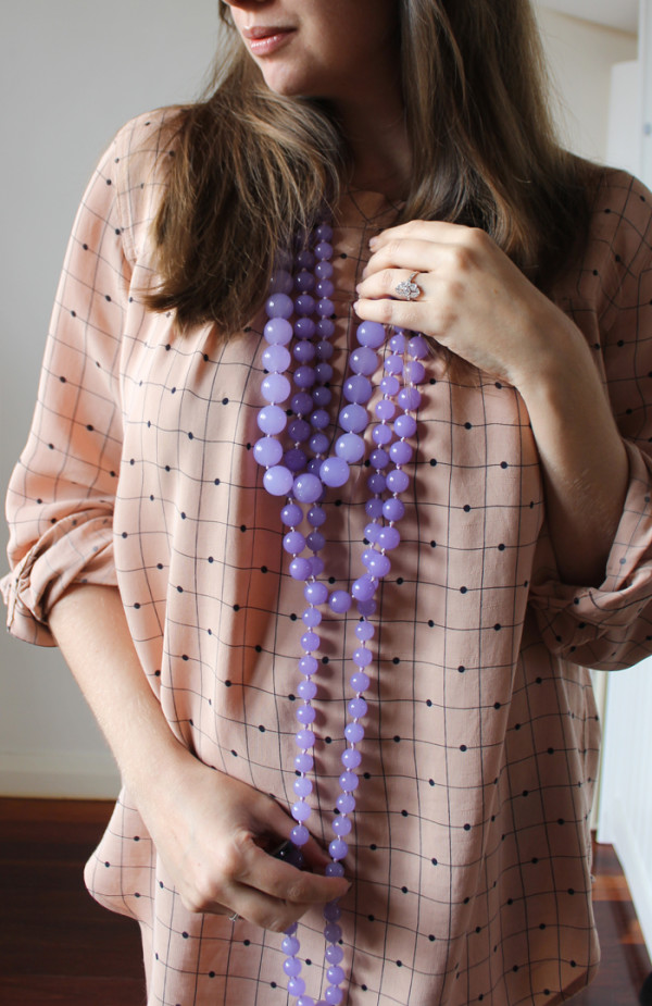 Purple Jade beads | www.ladymelbourne.com.au