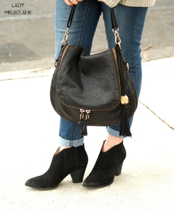'Splendid' black ankle boots and Vince Camuto bag | www.ladymelbourne.com.au