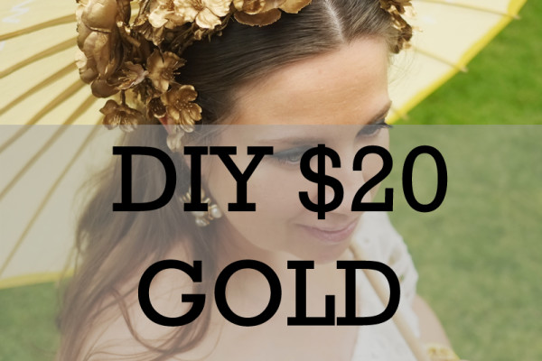 Lady Melbourne's DIY Gold Flower Crown for under $20 | www.ladymelbourne.com.au