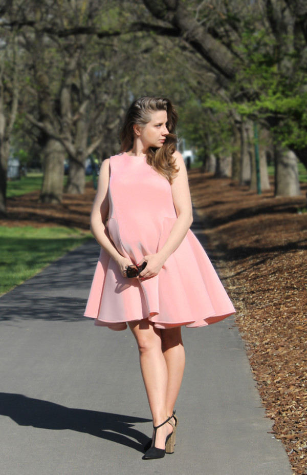 ASOS maternity scuba dress | www.ladymelbourne.com.au