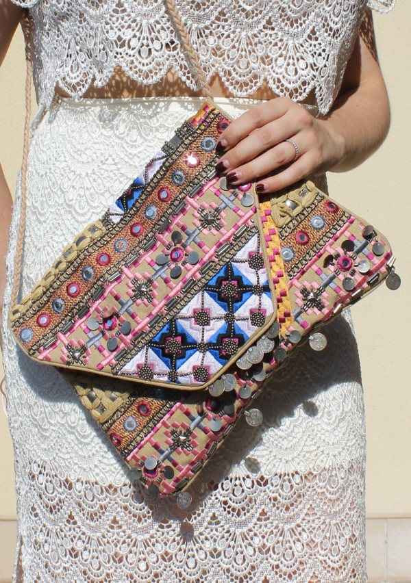 Boho embroidered bag as see on Lady Melbourne | www.ladymelbourne.com.au