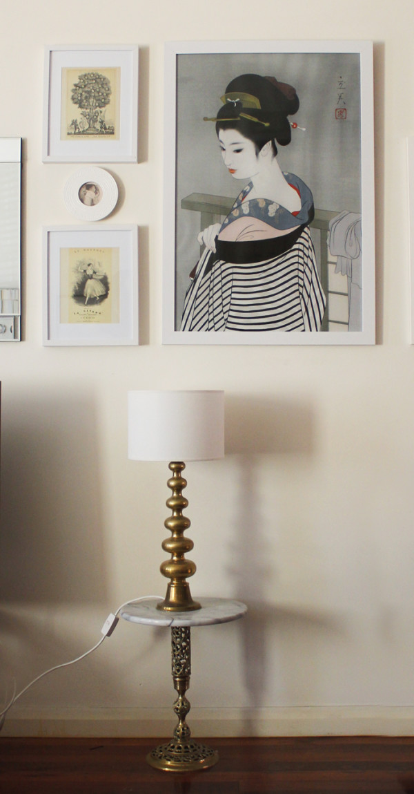 Vintage lamp, as seen on Lady Melbourne's picture wall | more on www.ladymelbourne.com.au