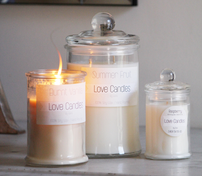 Beautiful Love Candles by Eleni | more on www.ladymelbourne.com.au