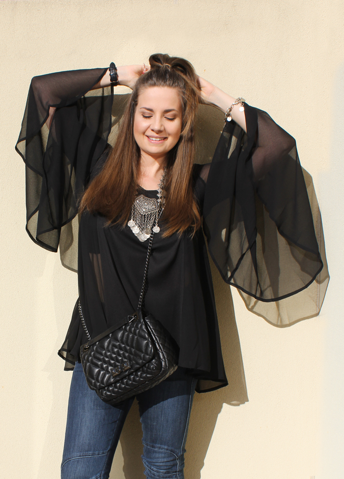 Bell sleeve sheer blouse from ASOS | www.ladymelbourne.com.au