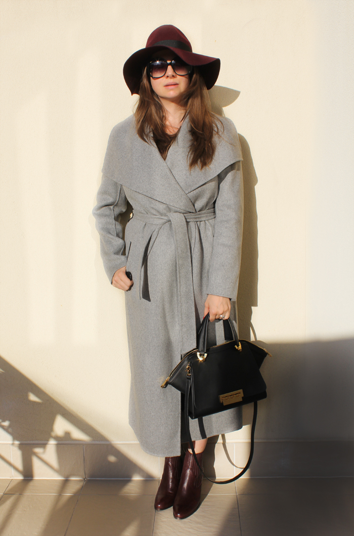 Lady Melbourne wearing grey coat by Mackage with River Island dress | www.ladymelbourne.com.au