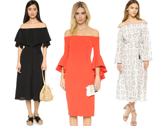 off-shoulder-dresses