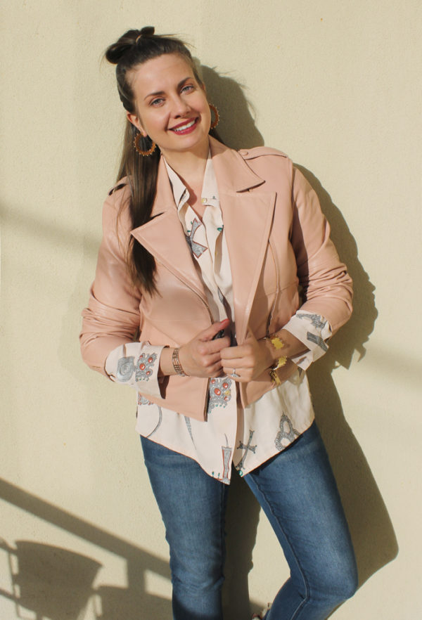 Lady Melbourne wearing 'Le Ciel En Bleu' jacket | more on www.ladymelbourne.com.au