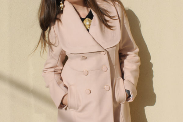 Lady Melbourne wearing the 'Delphi' coat from Review Australia | more on www.ladymelbourne.com.au