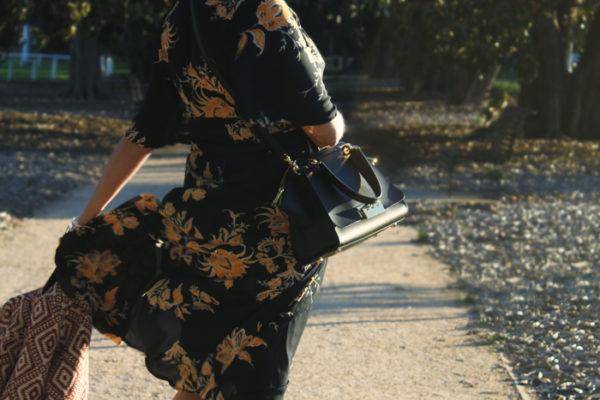 Lady Melbourne in floral dress with fringe jacket | more on www.ladymelbourne.com.au