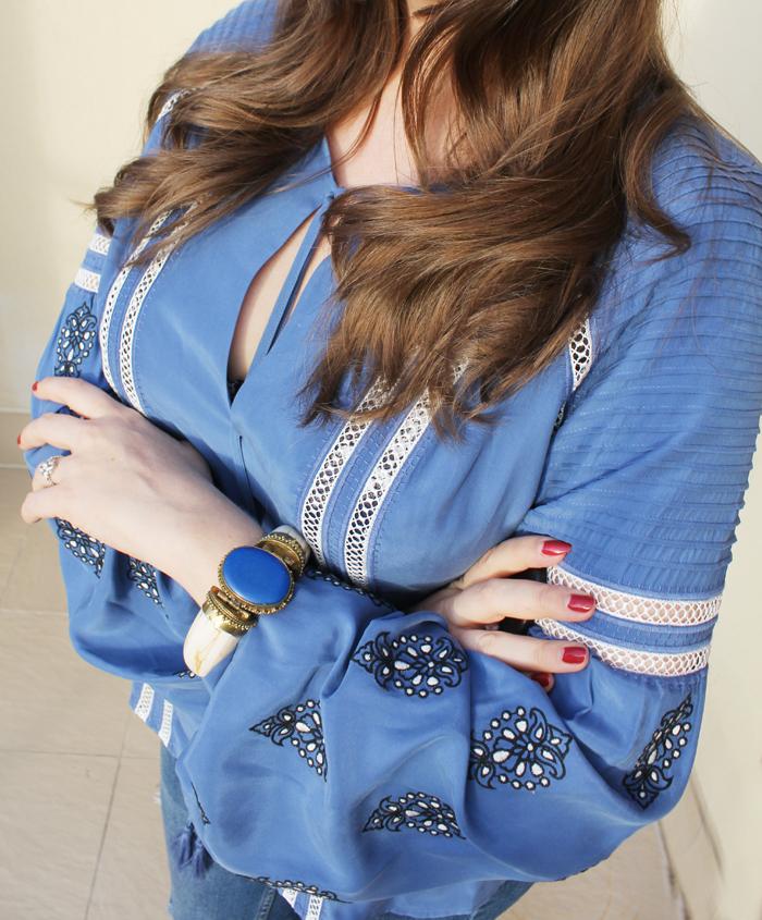 Veronica Beard silk 'Alpine' blouse | www.ladymelbourne.com.au