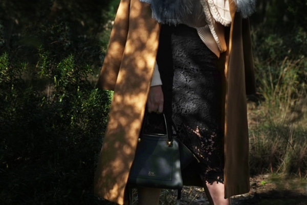 Lady Melbourne wearing Raye 'Beatrix' heels, Feathers Coat, black lace skirt | more on www.ladymelbourne.com.au