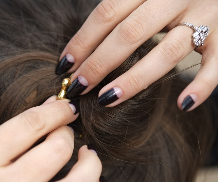 Moon manicure