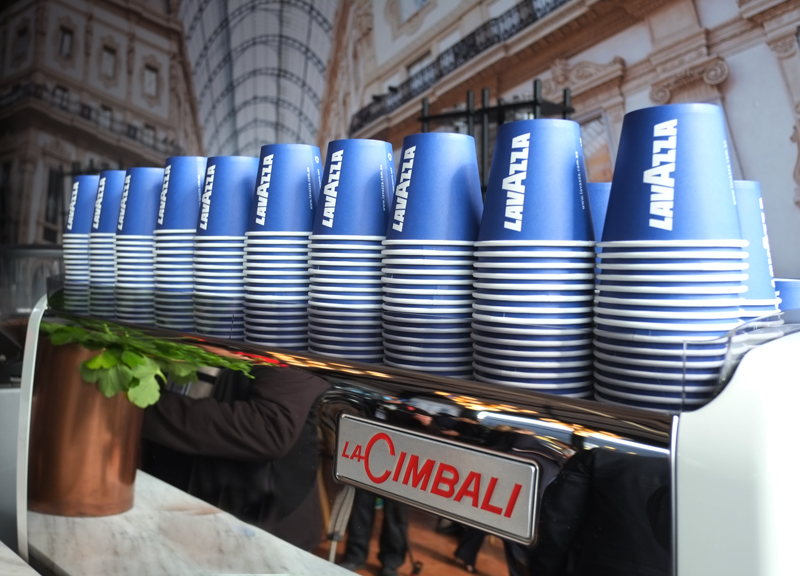 Inside the Lavazza Marquee at the Birdcage