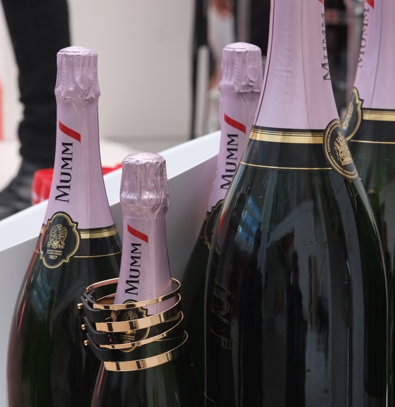 Inside the Mumm Marquee at the Birdcage