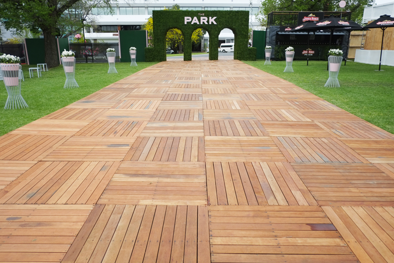 'The Park' entertainment precinct at Flemington Racecourse | more on www.ladymelbourne.com.au
