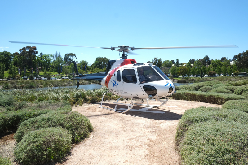 Getting a helicopter to Flemington Racecourse