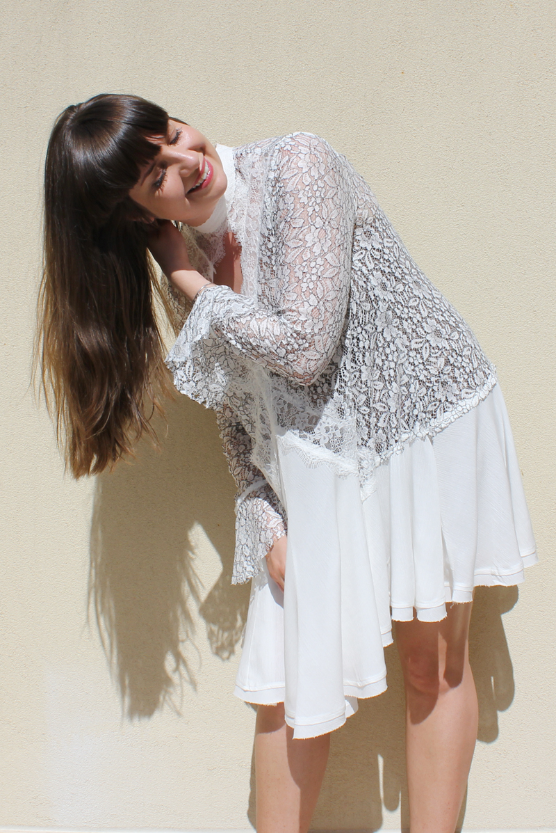 Lady Melbourne wearing 'Tell Tale' tunic from FREE PEOPLE | more on www.ladymelbourne.com.au
