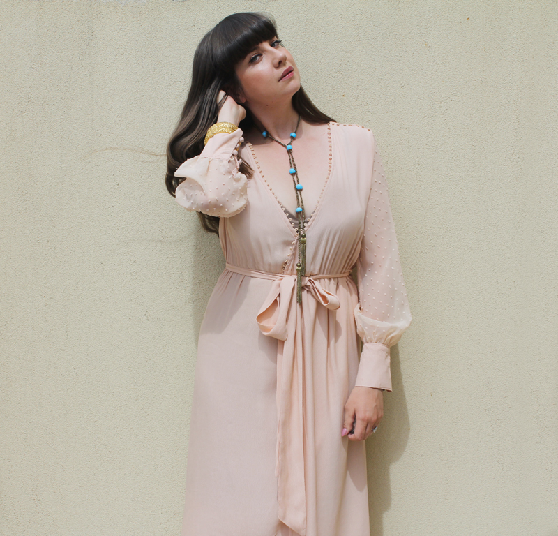 The 'Samara' blush, wrap dress from StFrock | more on www.ladymelbourne.com.au