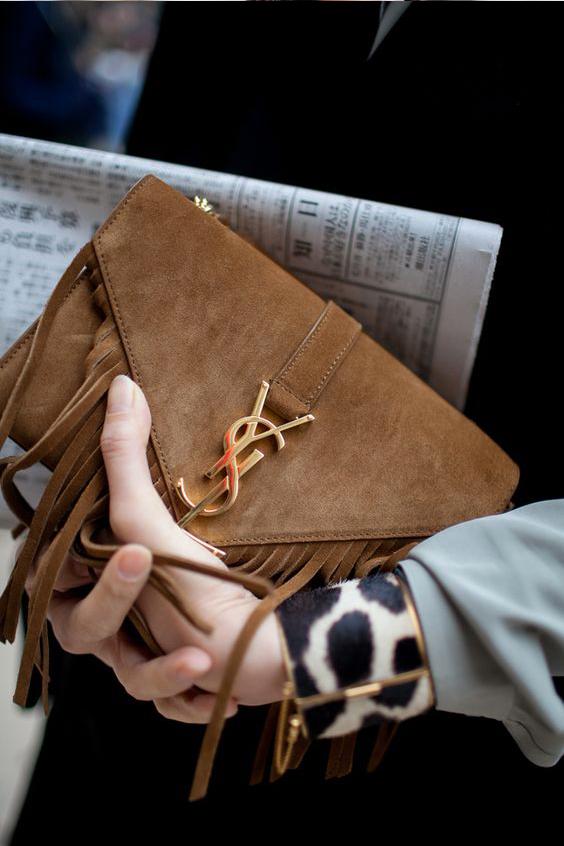 YSL Suede monogram clutch | www.ladymelbourne.com.au