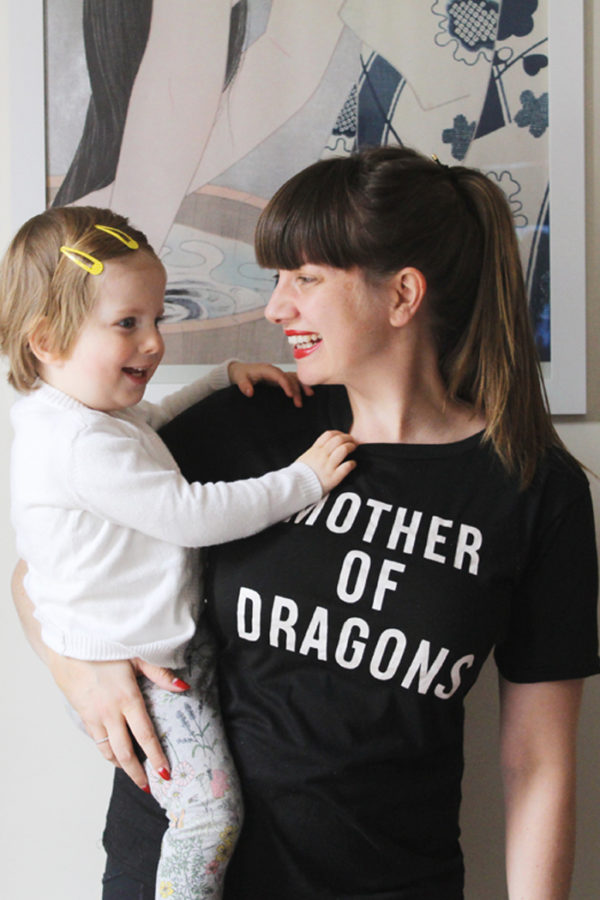 Mother of Dragons tee on Lady Melbourne