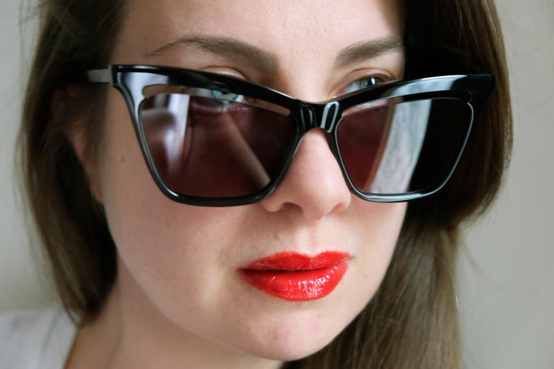 McQ - Alexander McQueen, Cat Eye with Cut Lens Sunglasses